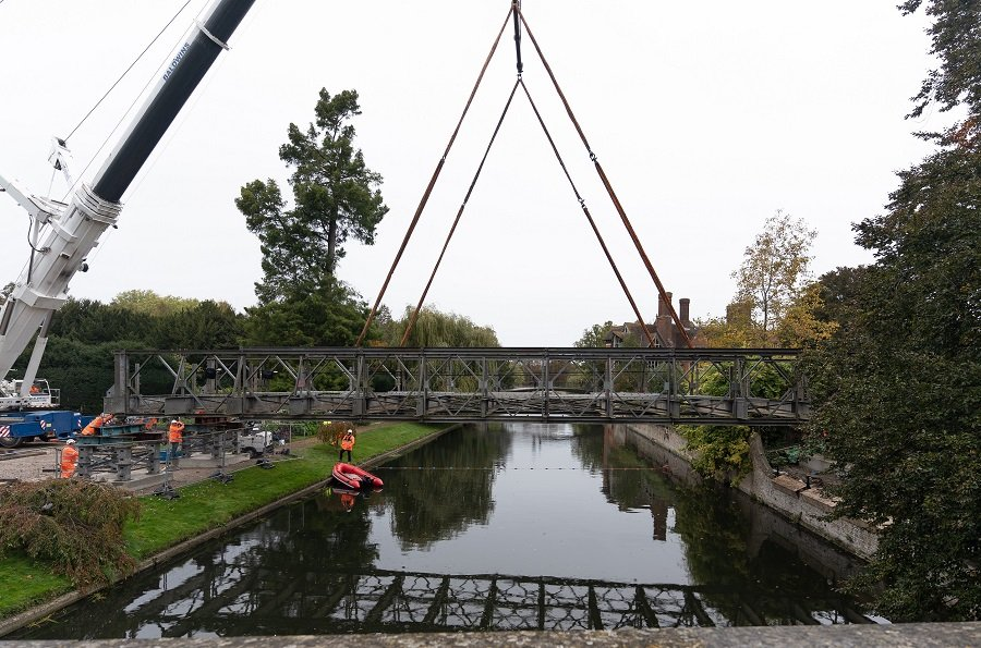Temporary bridge installed over the River Cam 7